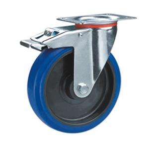 Factory Sale Elastic rubber casters with brake