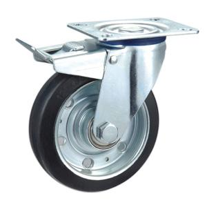Factory Sale Steel Core Rubber Caster Wheel