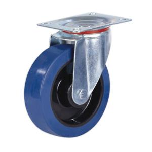 Factory Sale Swivel Elastic Rubber Caster