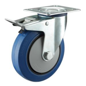 Blue Rubber Caster Wheels Manufacturer In China
