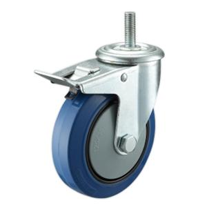 Elastic Rubber Casters With Total Lock In China