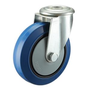 Factory Sale Blue Elastic Rubber Castors
