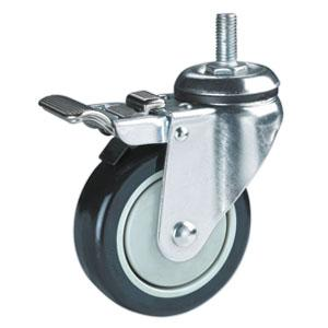 Factory Sale Threaded Stem PU Casters