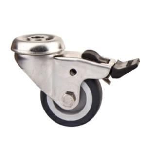 Bolt hole stainless steel caster wheels factory