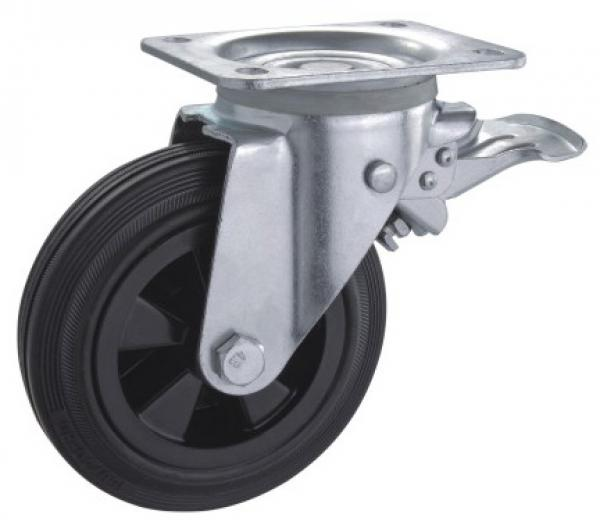 Dustbin rubber casters factory