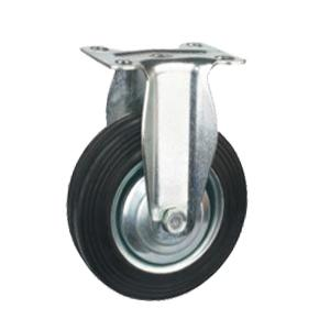 Fixed Rubber Caster Wheel