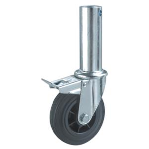 Hollow Stem Scaffold Caster Wheels With Brake