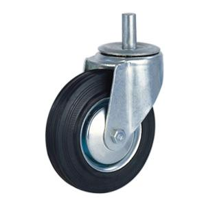 Industrial rubber caster wheels factory