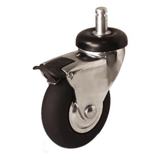 Neoprene Rubber Casters With Grip Ring Stem