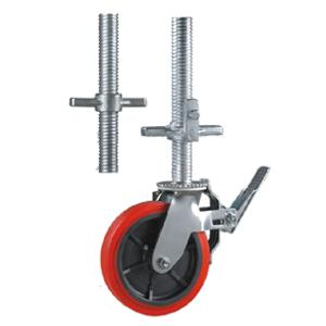 Pu scaffold caster wheels with hollow screw stem factory