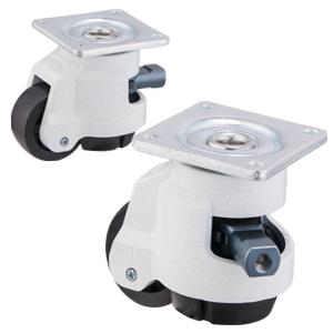 Ratcheting Leveling Casters