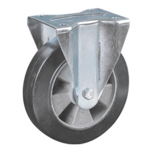 Rigid Aluminum Core Rubber Casters