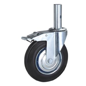 Rubber scaffold caster with solid stem factory