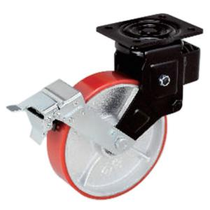 Shock Absorbing Casters With Brake