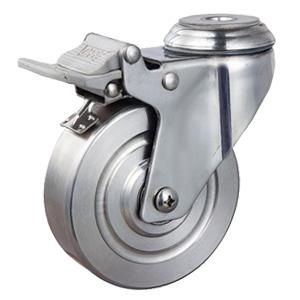 Stainless casters hollow kingpin factory