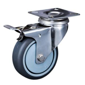 Stainless casters with brake factory