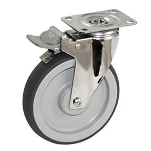Stainless steel caster with total lock factory