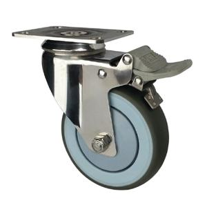 Stainless steel casters with brake factory