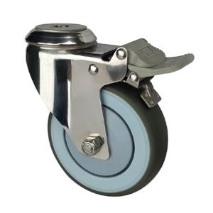 Stainless steel casters with hollow king pin factory