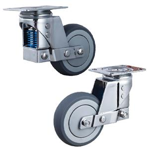 Stainless steel spring loaded casters wheels factory