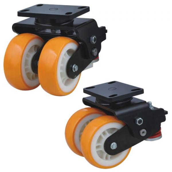 Twin wheels suspension casters factory