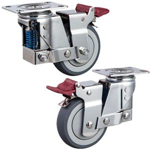 stainless steel spring shock absorber casters factory