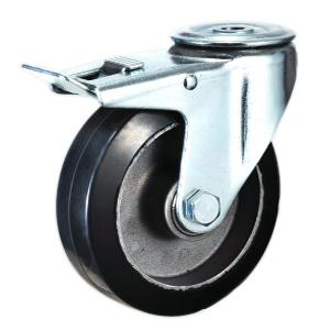 Factory Sale Bolt Hole Rubber Trolley Wheels