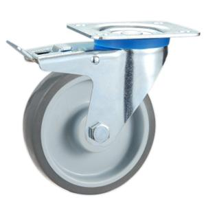 Factory Sale Trolley wheels with brake manufacturer